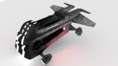 Space infantry landing craft 3D Model
