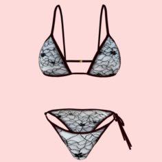 Sexy Net bikini P07 3D Model