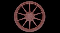 2012 Mercedes Benz C63 AMG Wheel Mid Poly 3D Model