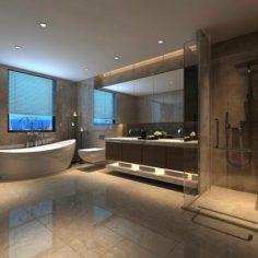 Bathroom design complete model 170 3D Model