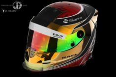 Helmet Schuberth RF1 2017 – Wehrlein 2017 texture 3D Model