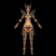 Fantasy Warrier Girl 3D Model