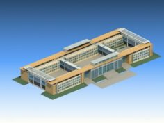 School building 057 3D Model