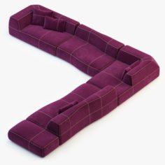 BB Italia Bend-Sofa v2 3D Model