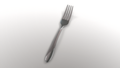 Dinner Fork with Swirl Accent 3D Model