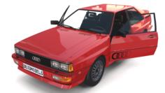 1981 Audi Coupe Quattro with interior Red 3D Model