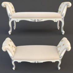 Classical banquette 3D Model