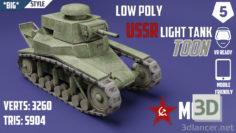 3D-Model  MC-1 USSR Toon Tank * Big *
