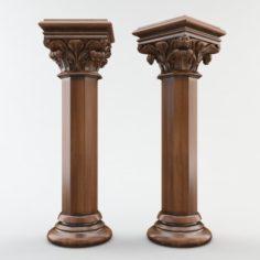 Gothic column CNC 3D Model