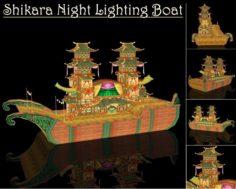 Shikara Night Lighting Boat 3D Model