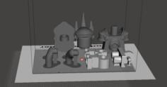 Lego reinhardt overwatch 3D Model