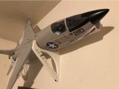 F-8 Crusader wall mount 3D Print Model