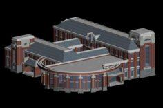 School building 060 3D Model
