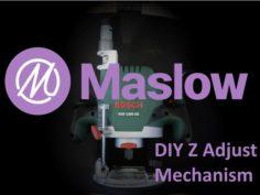 Maslow CNC Bosch POF 1200 AE Z Adjust Mount 3D Print Model