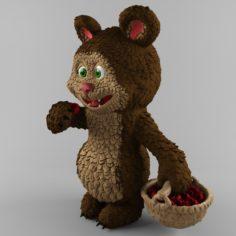 Bear and raspberries 3D Model