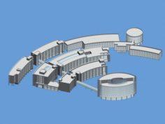 School building 053 3D Model