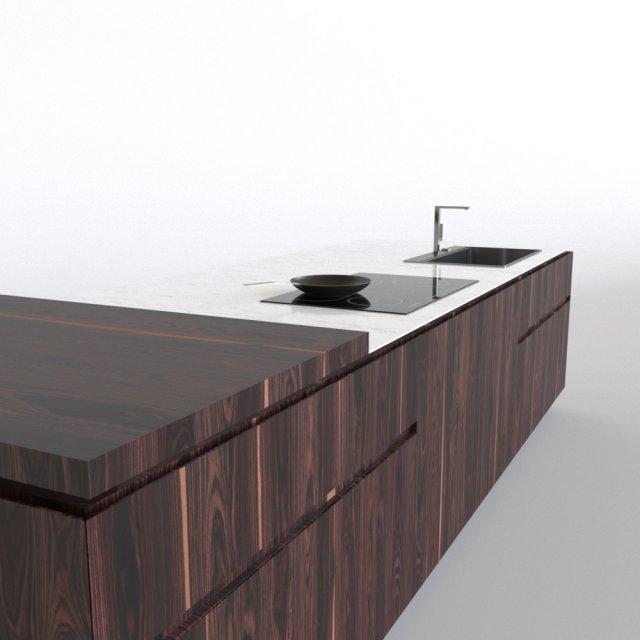 Cesar Elle kitchen island 3D Model