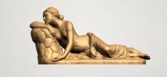 Naked Girl – Lying on Side 3D Model