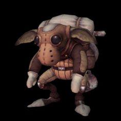 Cartoony Cow Character 3D Model