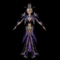 Sexy Warrior Queen 3D Model