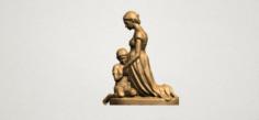 Mother-Child 02 3D Model