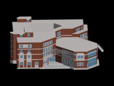 School building 077 3D Model