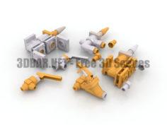 Industrial refrigeration valves QDV DSV 3D Collection