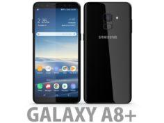 3D Samsung Galaxy A8 Plus 2018 Black 3D Model