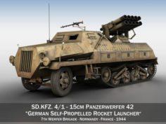 SDKFZ 4 1 – Panzerwerfer 42 – 7WB 3D Model