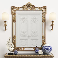 Mirror Chelini art.550                                      3D Model