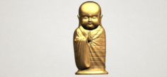 Little Monk 3D Model