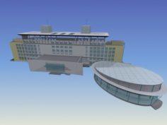 School building 050 3D Model