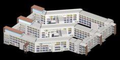 School building 121 3D Model