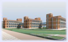 School building 040 3D Model