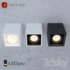 Surface-mounted luminaire CUB-ONE 8 W                                      Free 3D Model