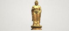 Gautama Buddha Standing 02 3D Model