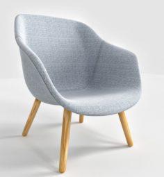 Lounge Chair Low Grey Hallingdal 3D Model