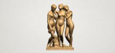 Sculpture of Three Grace 02 3D Model