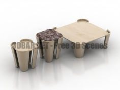Tulipa Go Home Table Set 3D Collection