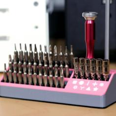 Multi-Color Micro-Tool Set Holder 3D Print Model