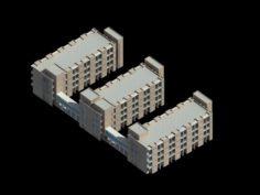 School building 090 3D Model