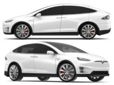 2017 Tesla Model X Solid White-Pearl White Multi-coat 3D Model
