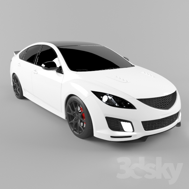 Mazda 6 (gh) 2008 tuning Free 3D Model - 3DHunt co