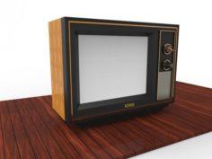 OLD SCHOOL TELEVISION SET 3D Model