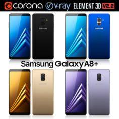Samsung Galaxy A8 PLUS All colors 3D Model