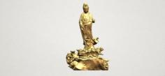 Avalokitesvara Buddha – Standing 02 3D Model