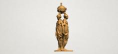 Sculpture of Three Grace 03 3D Model