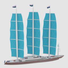 Sailing ship Free 3D Model