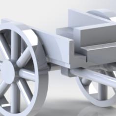 2 wheel cart 3D Print Model