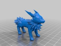 Complicated Low Poly Jolteon 3D Print Model